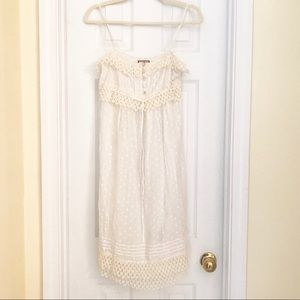 Delicate Cream & White Summer Dress by Juicy